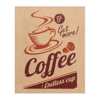 コーヒー アクリルウォールアート