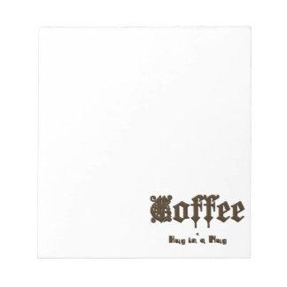 コーヒー-ゴシック様式マグの    抱擁 ノートパッド