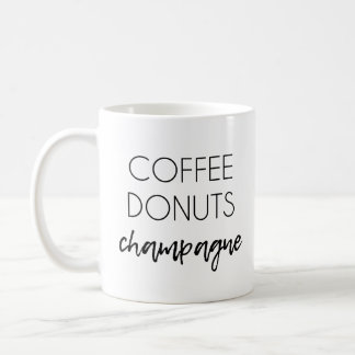 コーヒー|ドーナツ|シャンペンのマグ コーヒーマグカップ