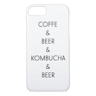 コーヒー、ビール、Kombuchaの場合 iPhone 8/7ケース