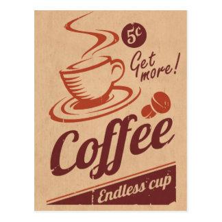 コーヒー ポストカード