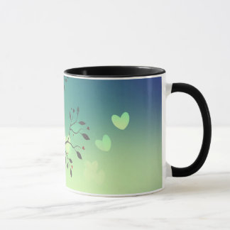 コーヒー・マグに接吻している鳥 マグカップ