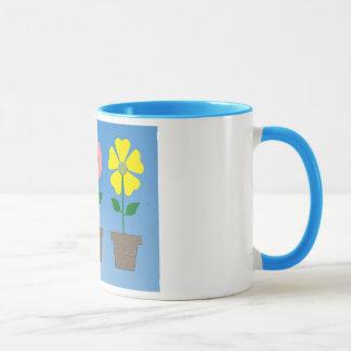 コーヒー・マグのカラフルな植木鉢のデザイン マグカップ