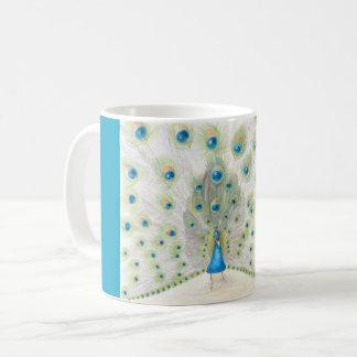 コーヒー・マグの孔雀 コーヒーマグカップ