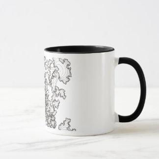 コーヒー・マグの独身のなカーブのクローズアップ マグカップ