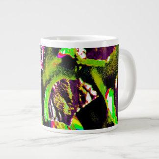 コーヒー・マグの黄色く抽象的なイメージ ジャンボコーヒーマグカップ