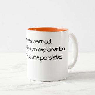 コーヒー・マグ: それにもかかわらず、彼女は主張しました ツートーンマグカップ