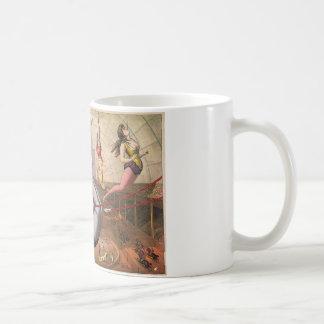 コーヒー・マグ-ヴィンテージのサーカスのAerialistsの19世紀 コーヒーマグカップ