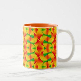 コーヒー・マグ-柑橘類ファン ツートーンマグカップ