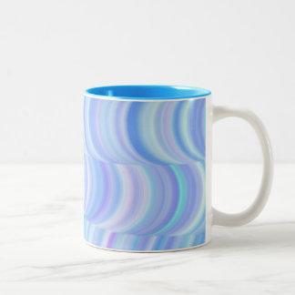 コーヒー・マグ-涼しく青いカーブ ツートーンマグカップ