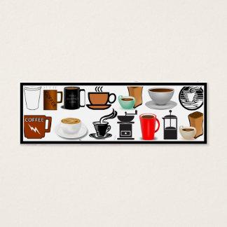 コーヒー・マグ(背景色を加えて下さい) スキニー名刺