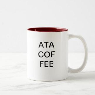 コーヒー-別の三文字頭字語 ツートーンマグカップ