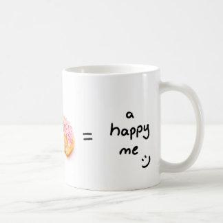 コーヒー+幸せなdoughnut=a私マグ コーヒーマグカップ
