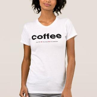 コーヒー-情熱のワイシャツ Tシャツ