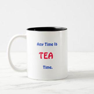 、コーヒー、時間は。、いつでもあります、茶、T…いつでもあります ツートーンマグカップ