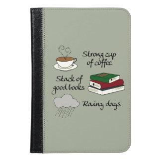 コーヒー、本及び雨 iPad MINIケース