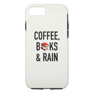 コーヒー、本及び雨 iPhone 8/7ケース