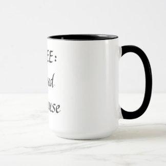 コーヒー:  私のめい想を食べ物を与えるため マグカップ