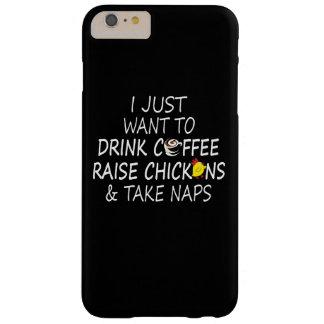 コーヒー、鶏および昼寝 BARELY THERE iPhone 6 PLUS ケース