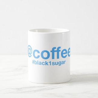 コーヒー(黒1の砂糖) Hashtagのマグ コーヒーマグカップ