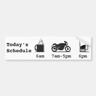 コーヒー、2wheels、及びビール-今日のスケジュール バンパーステッカー