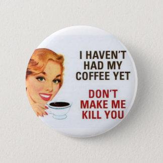 コーヒー 5.7CM 丸型バッジ