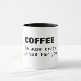 コーヒーbecaseのひびはおもしろいなコーヒー・マグのために悪いです マグカップ
