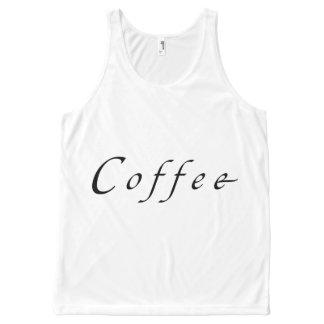 コーヒーTシャツ オールオーバープリントタンクトップ