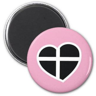 コーンウォールのピンクのハート マグネット