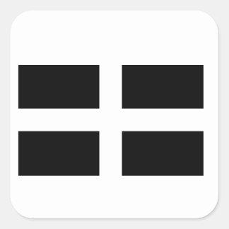 コーンウォールの旗 スクエアシール
