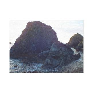 コーンウォールの海岸のキャンバス キャンバスプリント