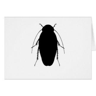 ゴキブリのイラストレーション カード