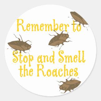 ゴキブリをストップ、かぐことを覚えて下さい ラウンドシール
