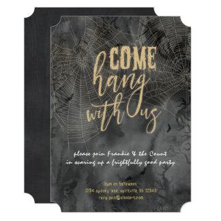 ゴシックのくもの巣のハローウィンパーティの招待状 カード
