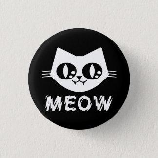 ゴシックのパンクの子猫の猫の鳴き声Pin 3.2cm 丸型バッジ