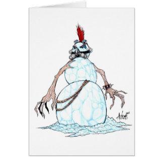 ゴシックのパンクの雪だるま カード