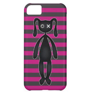 ゴシックのピンクおよび黒いバニー iPhone5Cケース