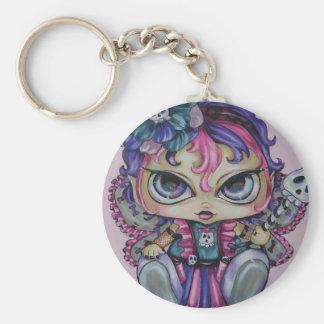 ゴシックのベビーの妖精のスカルの大きい注目されたファンタジーの芸術Keychain キーホルダー
