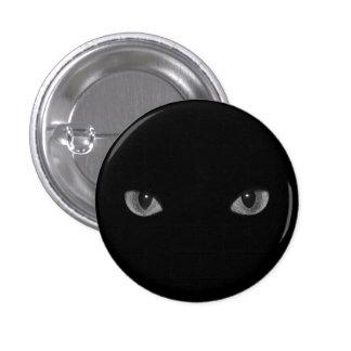 ゴシックの子猫のキャッツ・アイ 3.2CM 丸型バッジ