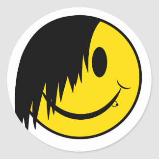 ゴシックの幸せな顔 ラウンドシール
