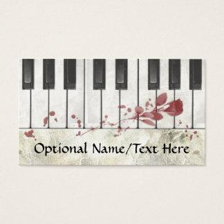 ゴシックの血まみれのピアノ名刺 名刺
