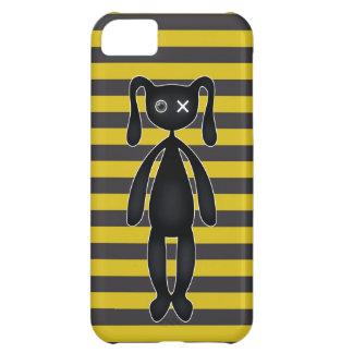 ゴシックの黄色および黒いバニー iPhone5Cケース
