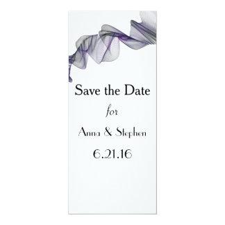 ゴシックの黒い及び紫色のベールの保存日付カード カード