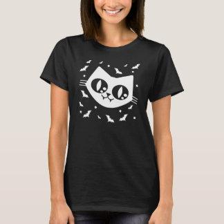 ゴシック様式かわいいの子猫猫および吸血コウモリ Tシャツ