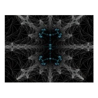 ゴシック様式くもの巣の抽象芸術 ポストカード