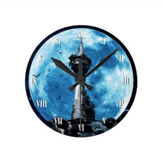 ゴシック様式こうもりタワーの柱時計 ラウンド壁時計