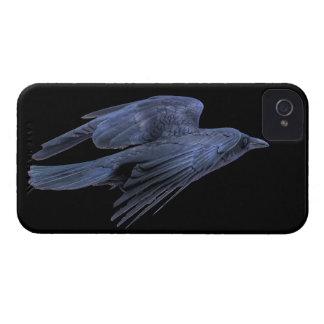 、ゴシック様式の飛んでいるで黒いワタリガラスウィッカ信者ケルト語 Case-Mate iPhone 4 ケース