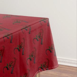 ゴシック様式ばら色のモノグラムA テーブルクロス