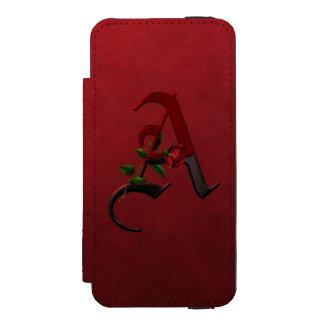 ゴシック様式ばら色のモノグラムA INCIPIO WATSON™ iPhone 5 財布 ケース