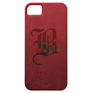 ゴシック様式ばら色のモノグラムB iPhone SE/5/5s ケース